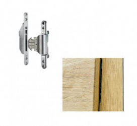 <strong>Retractable hinge</strong><br> (installed in the doors of 82 mm thickness) <br> the wing is not flush with the door frame